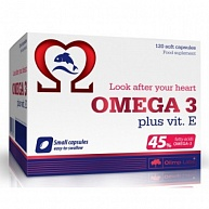 Витамины Omega-3 plus vit.E (45%) 500 mg, Olimp